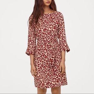 Beige Leopard Print Dress